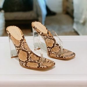 Simmi London Jemima Clear Sandal Heel